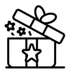 Loyalty gift box icon outline style vector