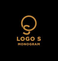 luxury initial s logo design icon element isolated vector image