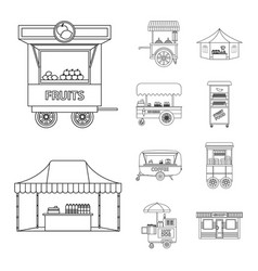 market and exterior icon vector image