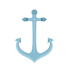 Metal anchor marine naval device vector
