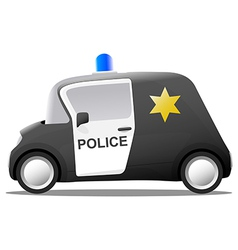 Mini cartoon sheriff police car vector