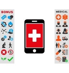 Mobile Medicine Icon vector