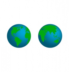 model of earth vector image vector image
