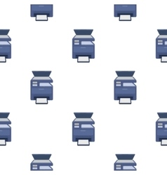 Multi-function printer in cartoon style isolated vector