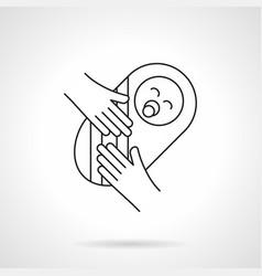 newborn baby flat line icon vector image