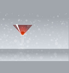 Official cocktail icon the unforgettable manhattan vector