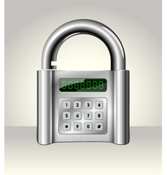 Opened padlock with digital interface vector image
