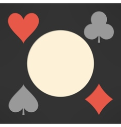 Playing cards suits background with copyspace vector image