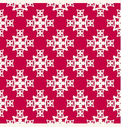 red and white abstract floral seamless pattern vector image