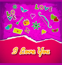 Romantic greeting template vector