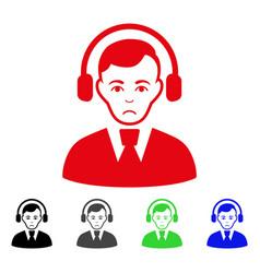 sad radio operator icon vector image