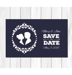 save date wedding invitation vector image