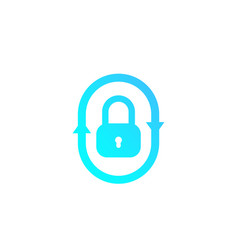 security icon with lock and arrows vector image