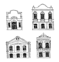 set different houses vector image