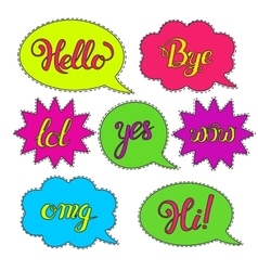 Set of Cartoon speech bubbles vector