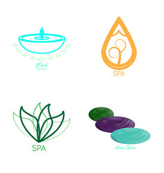 set of spa logos vector image