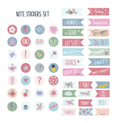Set stickers for planners and to do lists vector