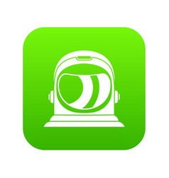 space helmet icon digital green vector image