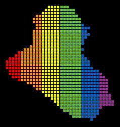 Spectrum dotted lgbt iraq map vector