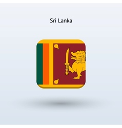 Sri Lanka flag icon vector image