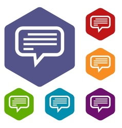 Talk rhombus icons vector image