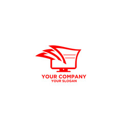 Tax digital computer logo design vector