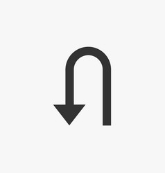 u-turn icon vector image