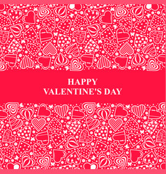 valentines day card with ornament decorative vector image