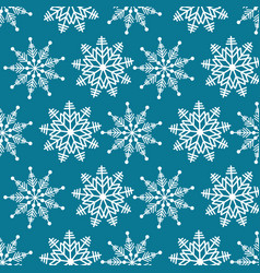 winter wonderland delicate white snowflake crystal vector image