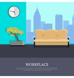 Workplace Concept in Flat Style Design vector