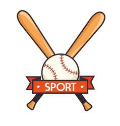 baseball sport isolated icon vector image