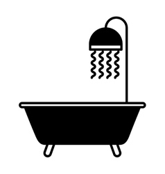 bathtub faucet isolated icon vector image