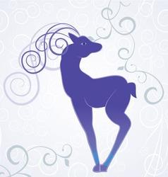 christmas blue decor vector image