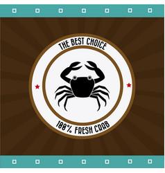 food design over brown background vector image