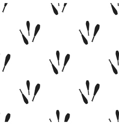 Juggling clubs icon in black style isolated on vector image