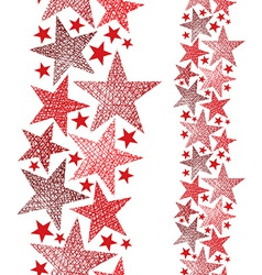 Red stars seamless pattern vertical composition vector image vector image