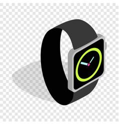 wristwatch isometric icon vector image