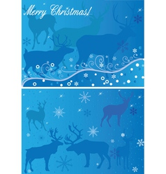 2 xmas backgrounds vector image vector image