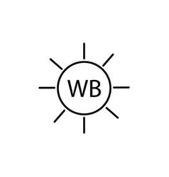 camera white balance icon vector image