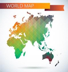 Eastern Hemisphere globe Bright map vector image