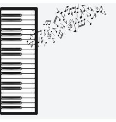 music background with piano vector image vector image