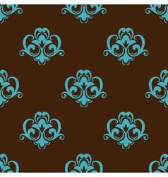 Retro azure seamless pattern vector image vector image
