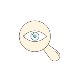 Searching Eye with magnifying glass investigation vector image