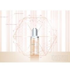 Skin serum toner template glass bottle vector image vector image