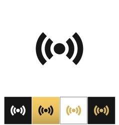 Wi-fi wireless signal spot symbol icon vector image vector image