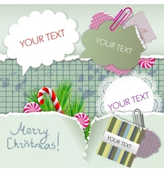 colorful little notes vector image vector image