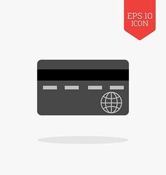 Credit card icon flat design gray color symbol vector