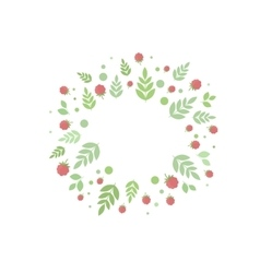 Frame with leaves and berries template vector image