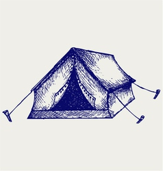 Tent vector image vector image