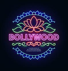 vintage bollywood movie signboard glowing retro vector image vector image